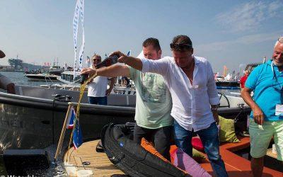 Brutus gedoopt door Frans Duijts en Wolter Kroes op HISWA 2017
