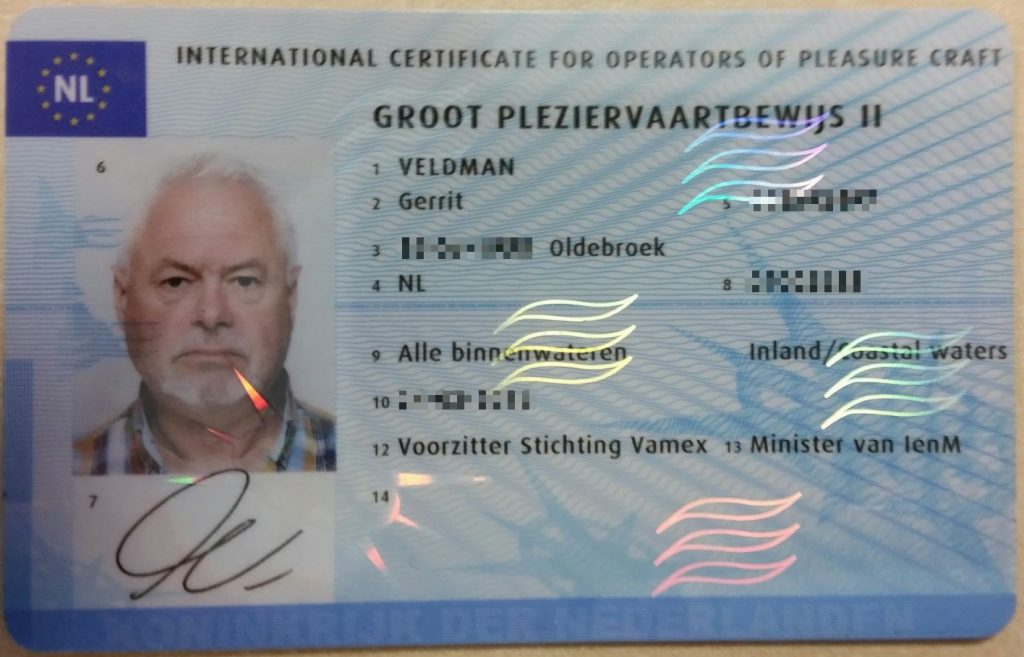 Vaarbewijs Gerrit Veldman